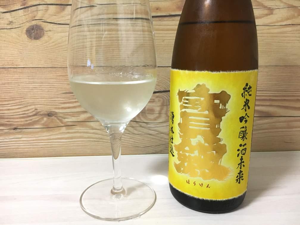 【日本酒】宝剣 純米吟醸 酒未来 生酒 2017BY|日本酒紹介・感想